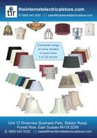 Grey Pinched Pleat Fabric Lamp Shade 8 inch OAKS601/8GY - Oaks Lighting